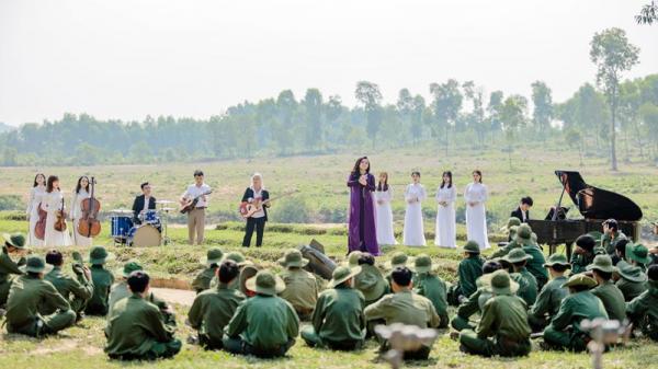NSƯT Tố Nga cùng dàn nhạc giao hưởng ra nghĩa trang Đường Chín quay 'Gửi vào thương nhớ'