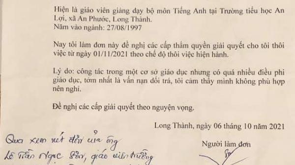 Xôn xao lá đơn thầy giáo xin nghỉ việc vì 'vấn nạn dối trá'