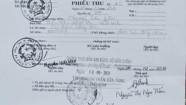 Quảng Trị: Chính quyền xã thu tiền nhưng không giải quyết hồ sơ xét cấp đất của dân